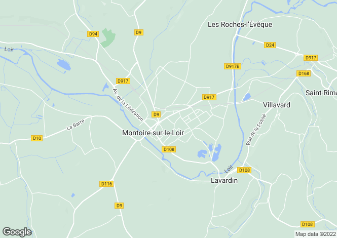 Map for montoire-sur-le-loir, Loir-et-Cher, France
