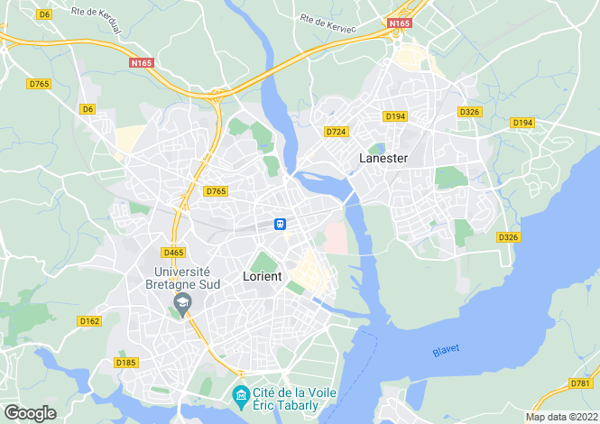 Map for LORIENT, Bretagne