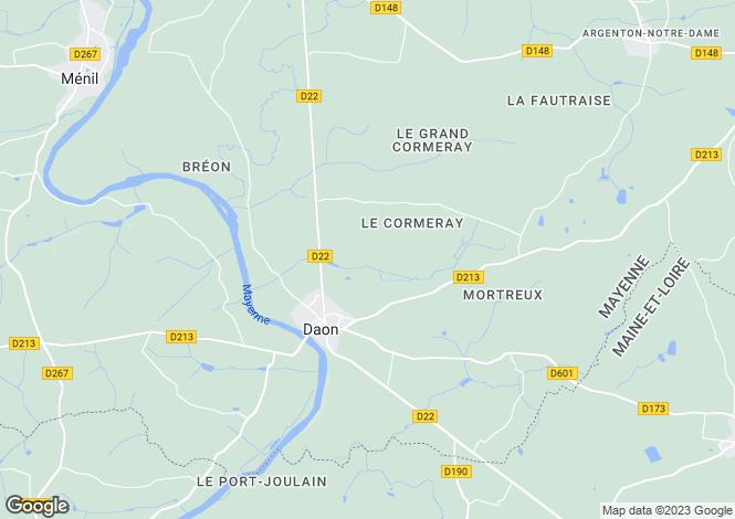 Map for daon, Mayenne, France