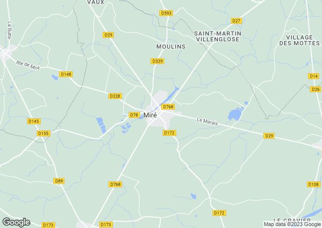 Map for mire, Maine-et-Loire, France