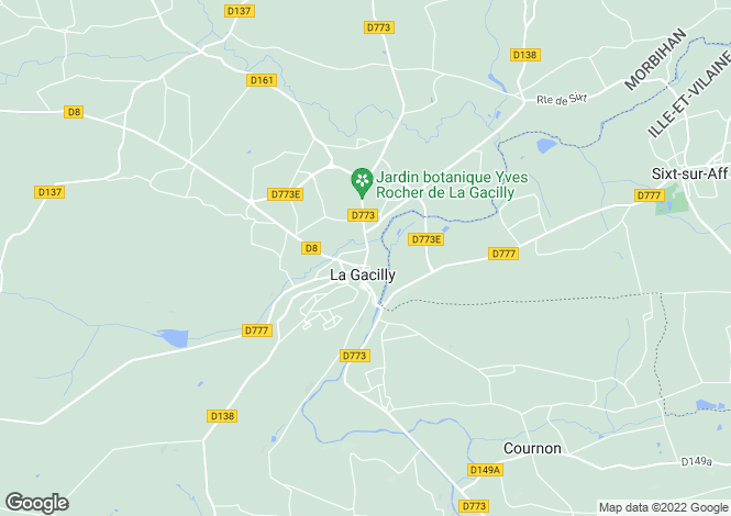 Map for la-gacilly, Morbihan, France