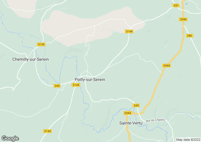 Map for poilly-sur-serein, Yonne, France