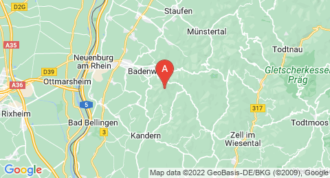 map of Blauen (Germany)