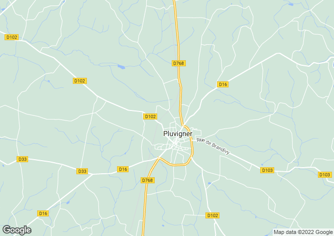 Map for PLUVIGNER, 56330, France