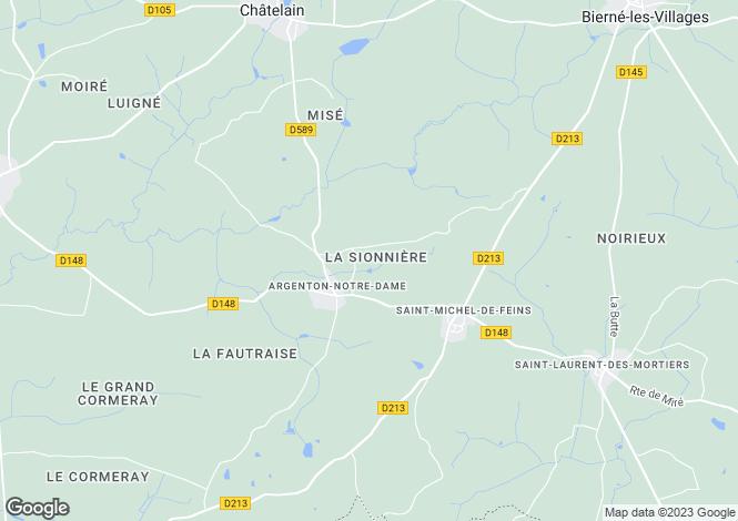 Map for argenton-notre-dame, Mayenne, France