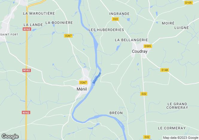 Map for menil, Mayenne, France