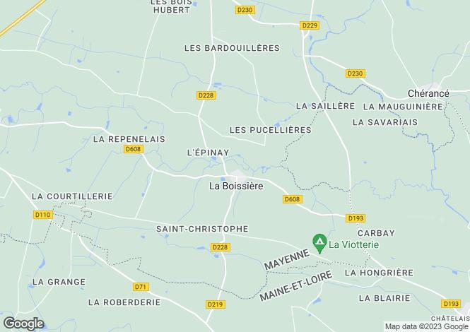 Map for la-boissiere, Mayenne, France