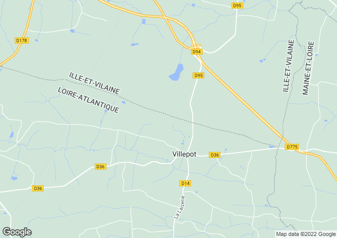 Map for villepot, Loire-Atlantique, France