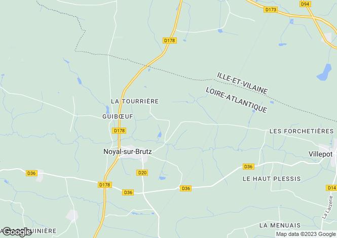 Map for noyal-sur-brutz, Loire-Atlantique, France