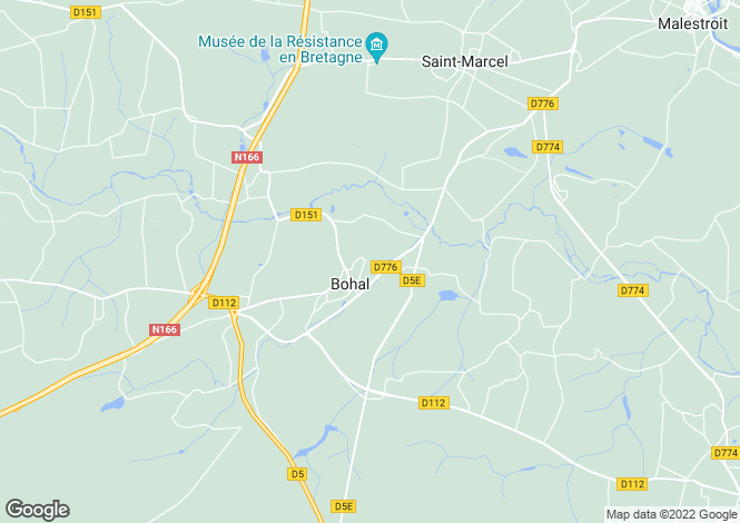 Map for bohal, Morbihan, France