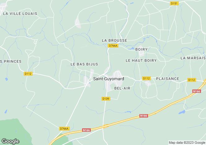 Map for Brittany, Morbihan, St-Guyomard