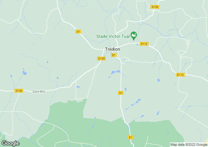 Map for TREDION, Bretagne