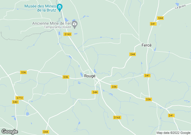 Map for rouge, Loire-Atlantique, France