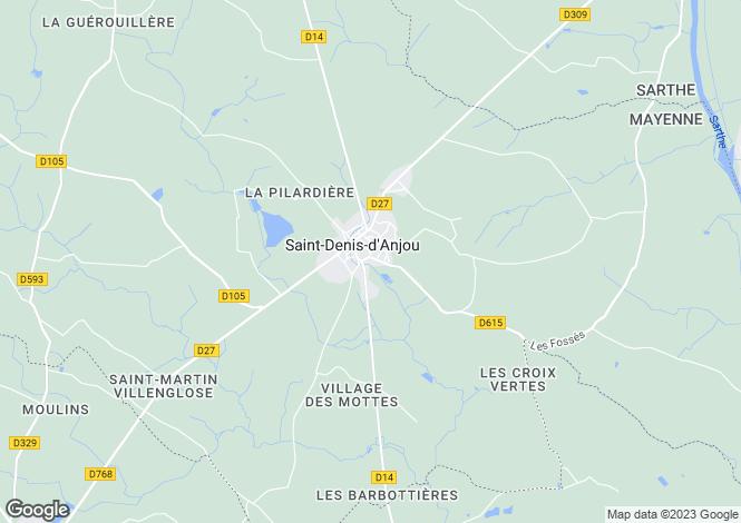 Map for St-Denis-d`Anjou, Mayenne, Pays de la Loire