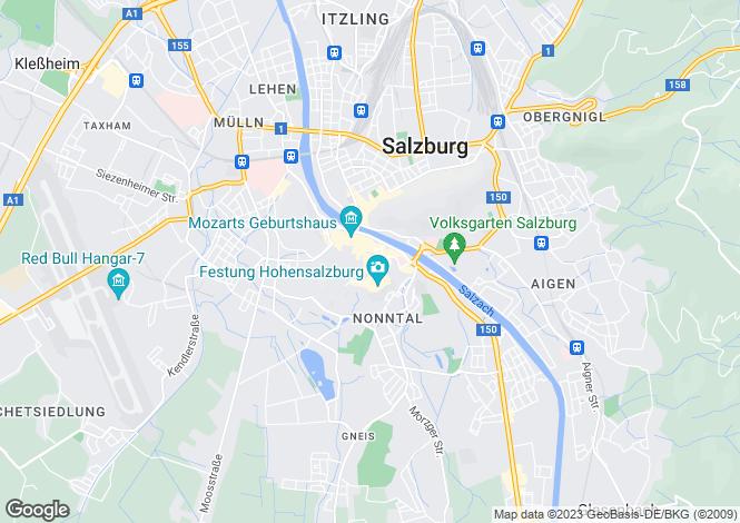 Map for Salzburg, Salzburg