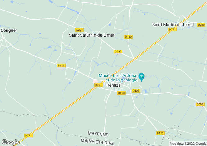 Map for renaze, Mayenne, France