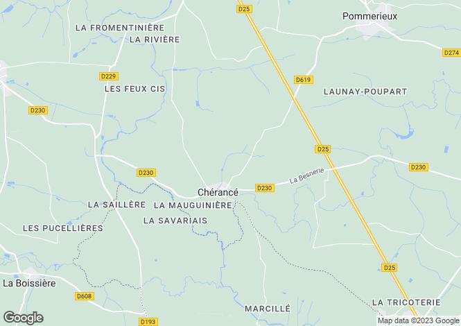 Map for cherance, Mayenne, France