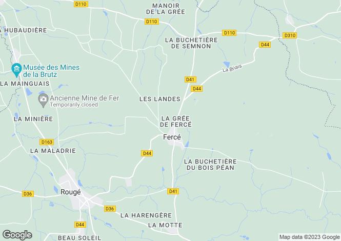 Map for ferce, Loire-Atlantique, France