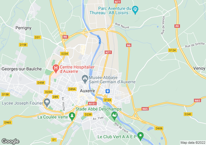 Map for AUXERRE, Bourgogne