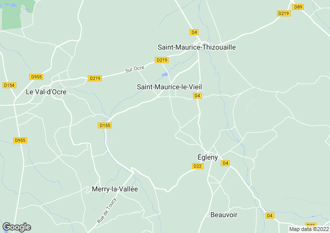 Map for Burgundy, Yonne, St-Maurice-le-Vieil