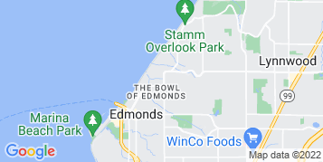 Edmonds Gutter Cleaning map