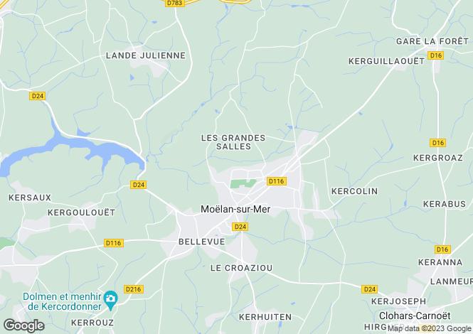 Map for Brittany, Finistère, Moëlan-sur-Mer