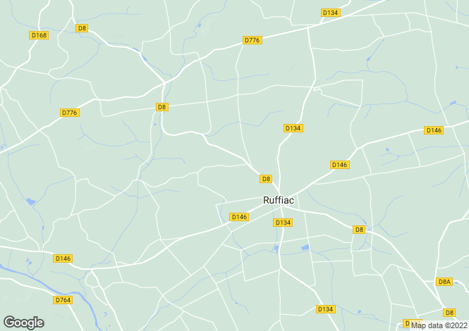 Map for ruffiac, Morbihan, France