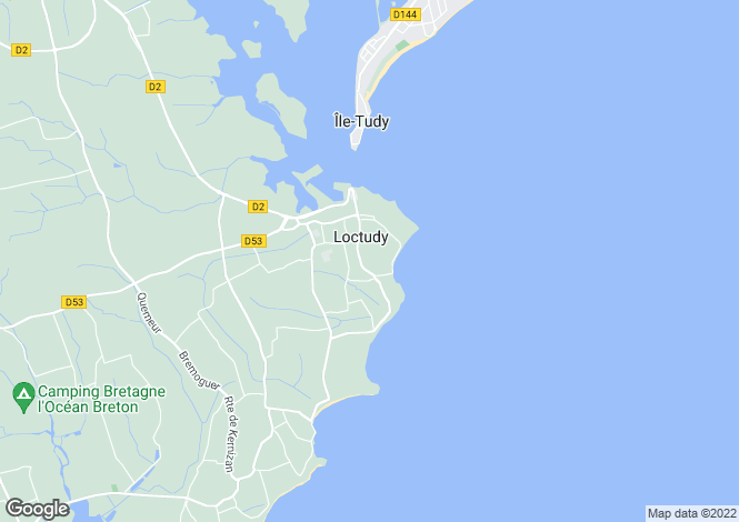 Map for loctudy, Finistère, France