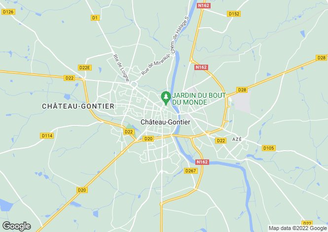 Map for chateau-gontier, Mayenne, France