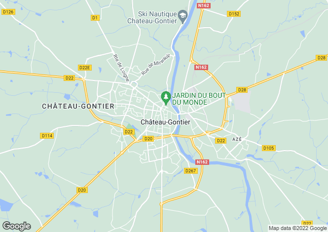 Map for 53200 chateau-gontier