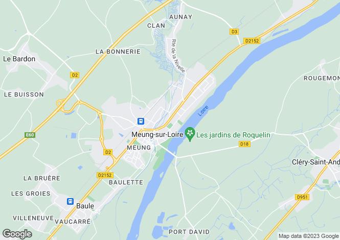 Map for meung-sur-loire, Loiret, France