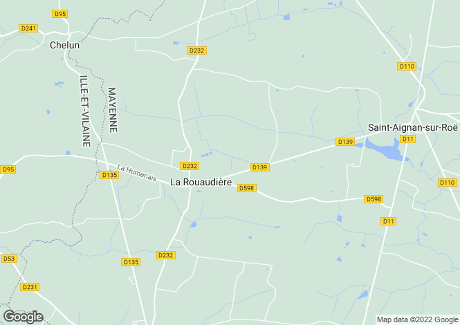 Map for la-rouaudiere, Mayenne, France