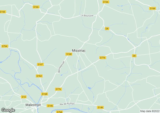 Map for Brittany, Morbihan, Missiriac