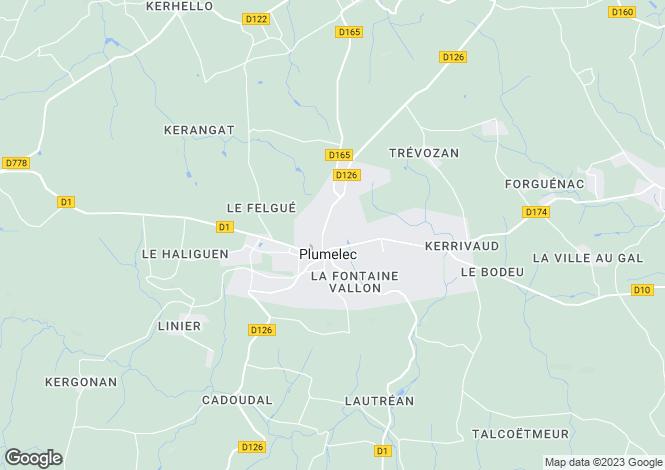Map for plumelec, Morbihan, France