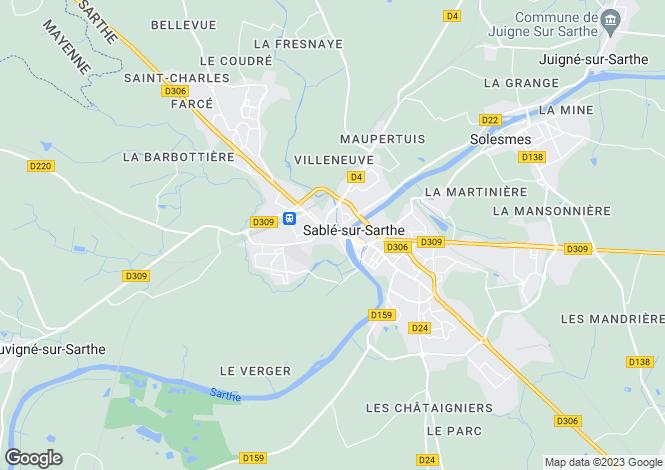 Map for Sable Sur Sarthe, Loire Valley, France