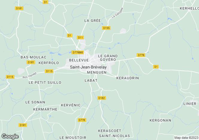 Map for SAINT JEAN BREVELAY, Bretagne