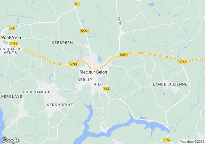 Map for riec-sur-belon, Finistère, France