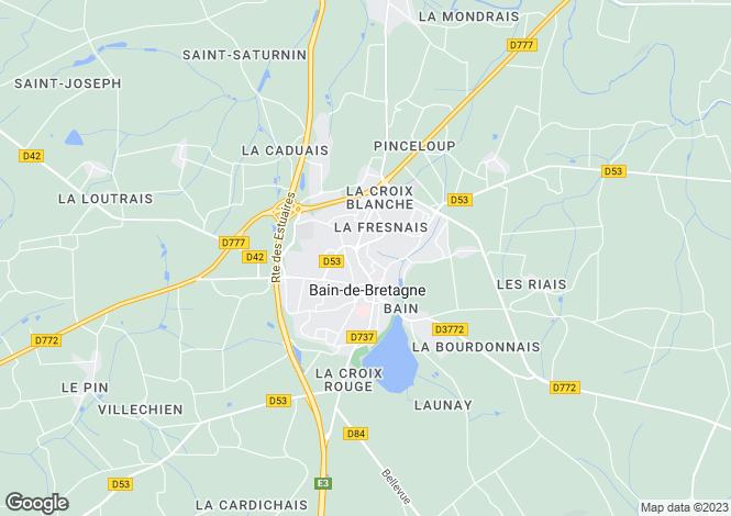 Map for bain-de-bretagne, Ille-et-Vilaine, France