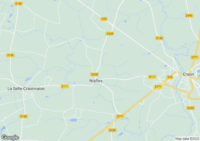 Map for niafles, Mayenne, France