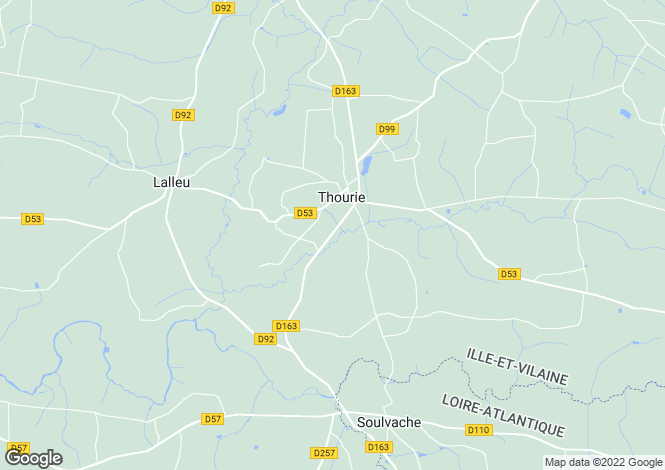 Map for thourie, Ille-et-Vilaine, France