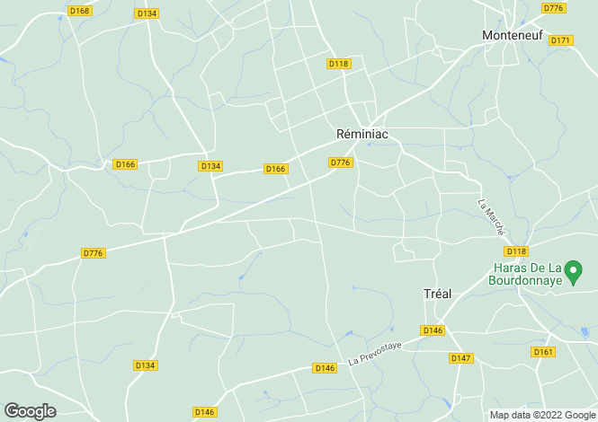 Map for reminiac, Morbihan, France