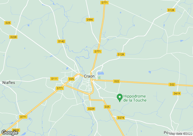 Map for craon, Mayenne, France
