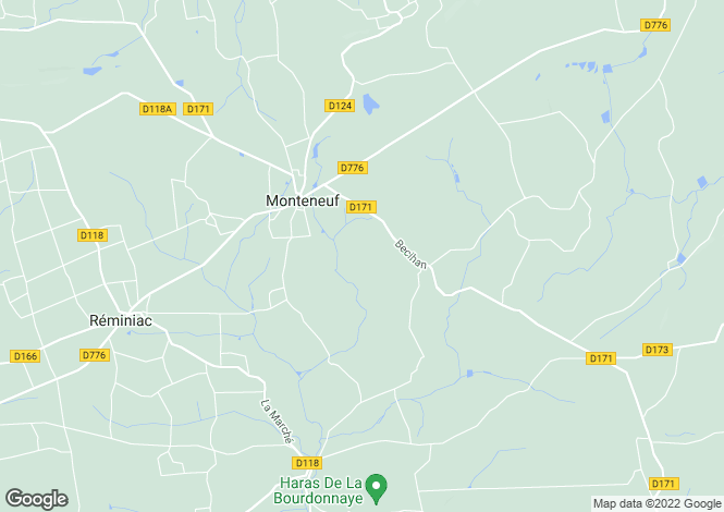 Map for Brittany, Morbihan, Monteneuf