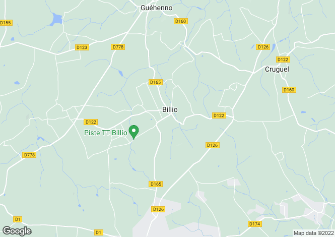 Map for Brittany, Morbihan, Billio