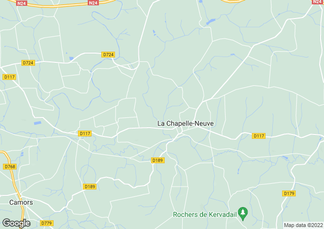 Map for la-chapelle-neuve, Morbihan, France