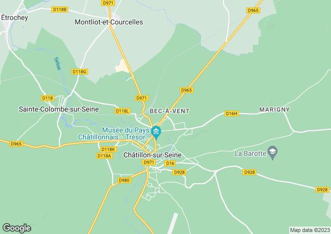 Map for 21400 chatillon-sur-seine