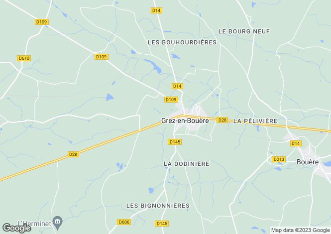 Map for st-denis-d'anjou, Mayenne, France