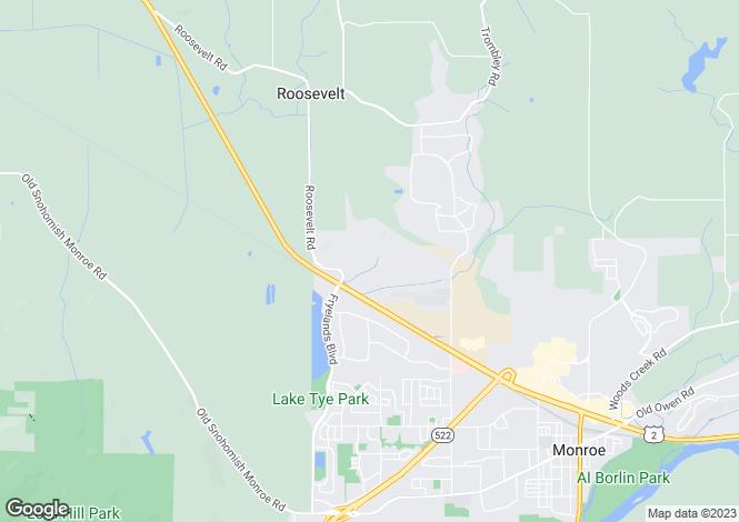Map for USA - Washington, Snohomish County, Monroe