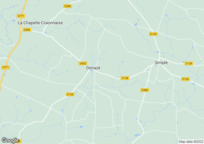 Map for denaze, Mayenne, France