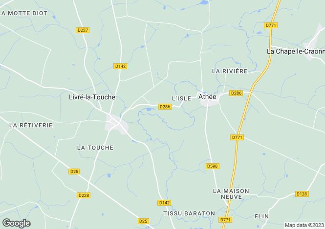 Map for livre-la-touche, Mayenne, France